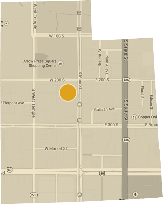 Map of Salt Lake City Utah Office